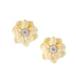 Lele Sadoughi, Oversized Gardenia Stud Earrings